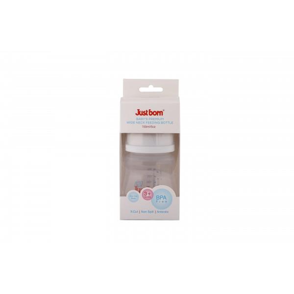 Just Born® Premium Wide Neck Feeding Bottle 5Oz / 150ML