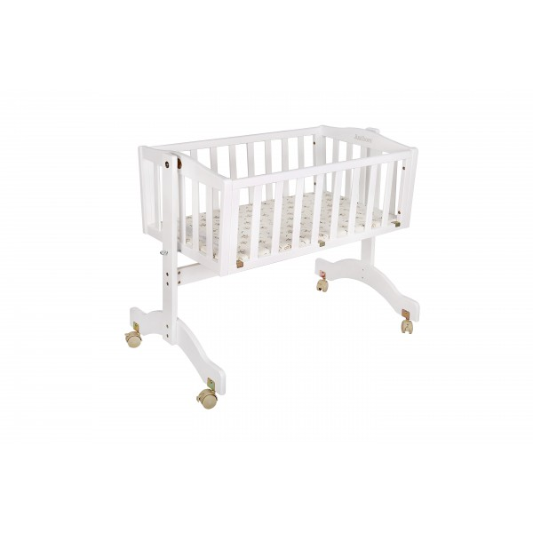 Just Born® Wooden Cradle - Lullaby (White Color)
