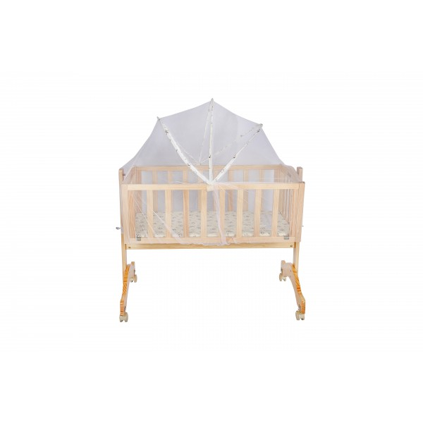 Just Born® Wooden Cradle - Lullaby  (Natural Wood Color)