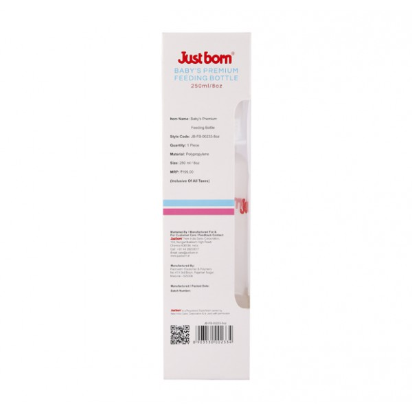 Just Born® Premium Feeding Bottle 8Oz / 250ML