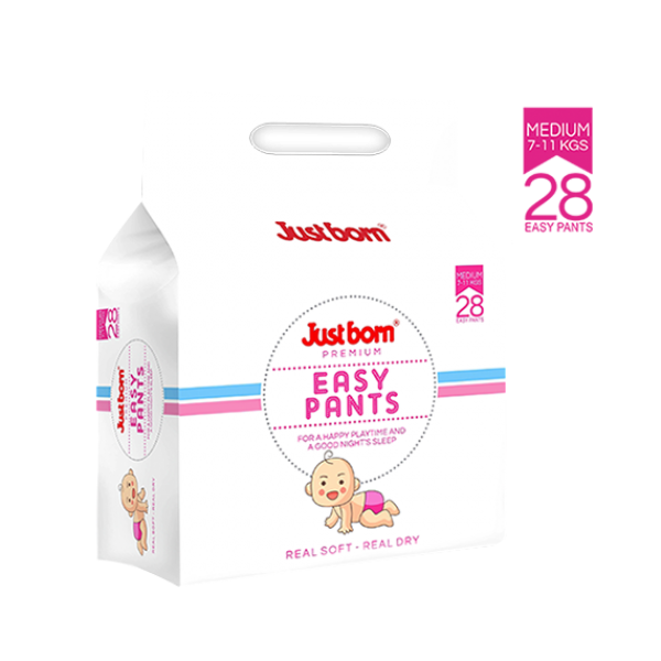 Just Born® Premium Easy Pants - 7 - 11 Kg's - 28's Count