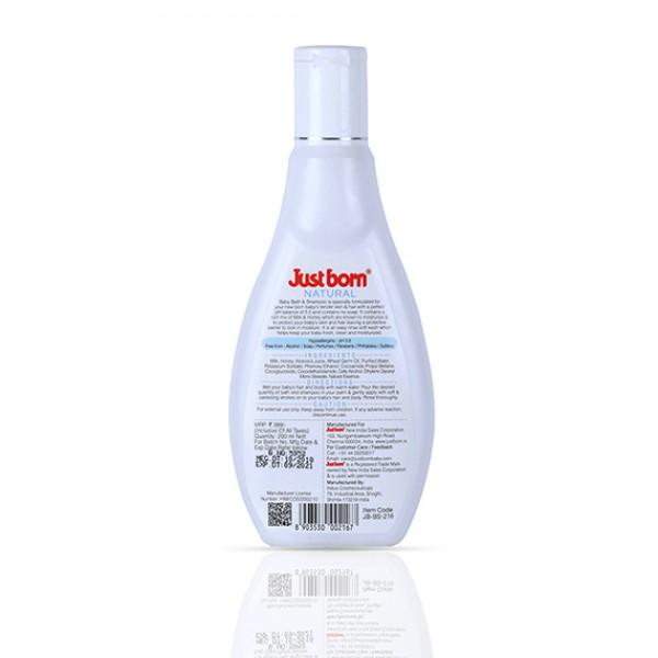 Natural Baby Bath and Shampoo (200 ML - Milk & Honey)