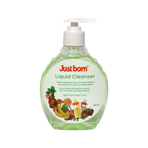 Just Born® Baby Liquid Cleanser - For Accessories + Fruits + Vegetables - 400 ML