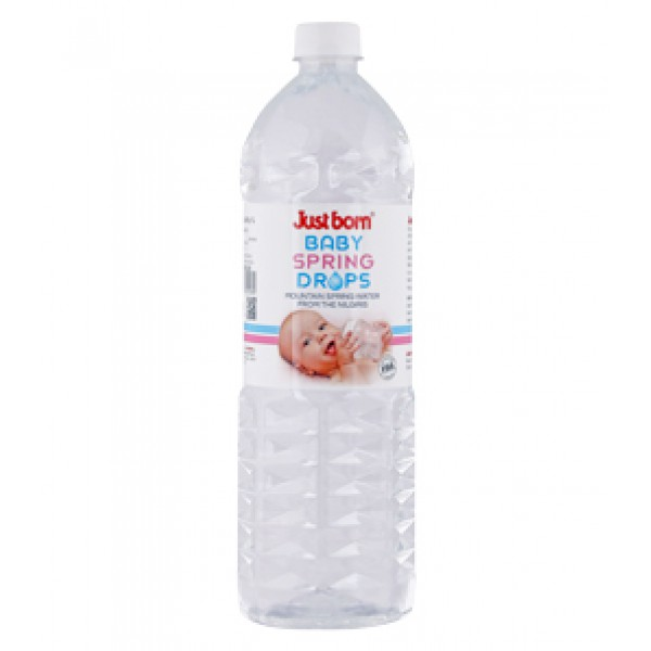 Just Born® Mountain Spring Drops Water - 1 Litre